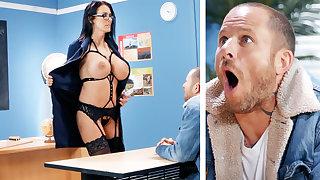 Glum teacher hardcore fucks house-servant at school