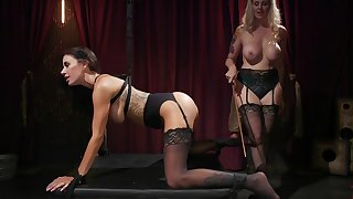Full domination in lesbian BDSM for Julia Ann and Gia Dimarco