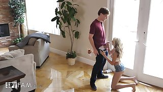 naughty stepbrother is gonna cum around hot Hime Marie