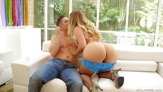 Aj Applegate warms up her ass with a dildo and gets rough fucked