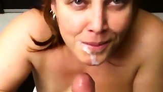 Extreme amateur pov blowjob and facial by cum