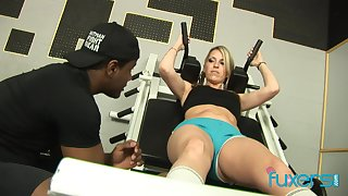 MILF wants sex in the gym with her BBC personal trainer