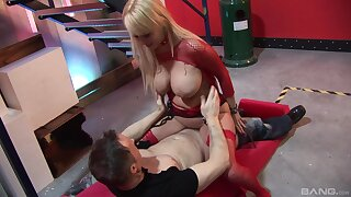 Wild fucking between a horny guy and hot ass Rebecca Jane Smythe