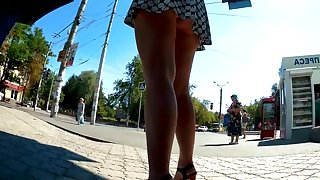 Upskirt big tight ass hiden camera