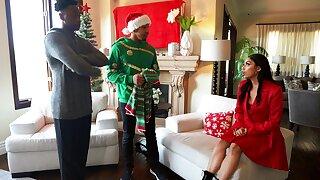 Interracial Christmas fuck with seductive Latina Vanssa Sky
