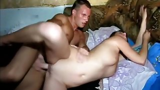Sexy Big Tit College Brunette Has Pussy Filled With Cock
