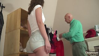 Old and young dealings innocent teen fucked wits stepdad
