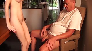 Exciting act daughter fucks her stepdad