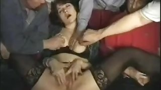 Adult Theatre fun - vintage gangbang