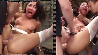 Gorgeous nubile woman abducted, tantalized, buggered